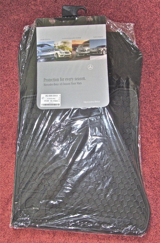 Floor mats b q - Amazon Com Genuine Mercedes Benz R 129 Sl All Season Rubber Floor Mat Set Black 90 02 Automotive