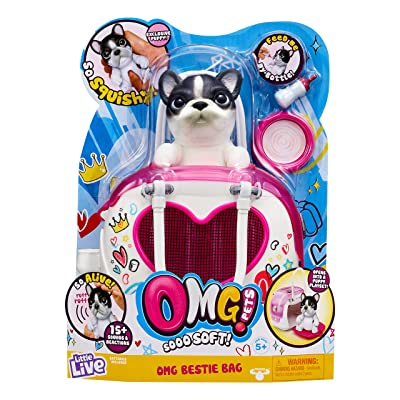 OMG Pets Soft Squishy Puppy That Comes to Life - Interactive Soft Puppy & Playset: Toys & Games