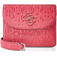 GUESS Women's Chic Shine Shoulder Bag, Color: Red