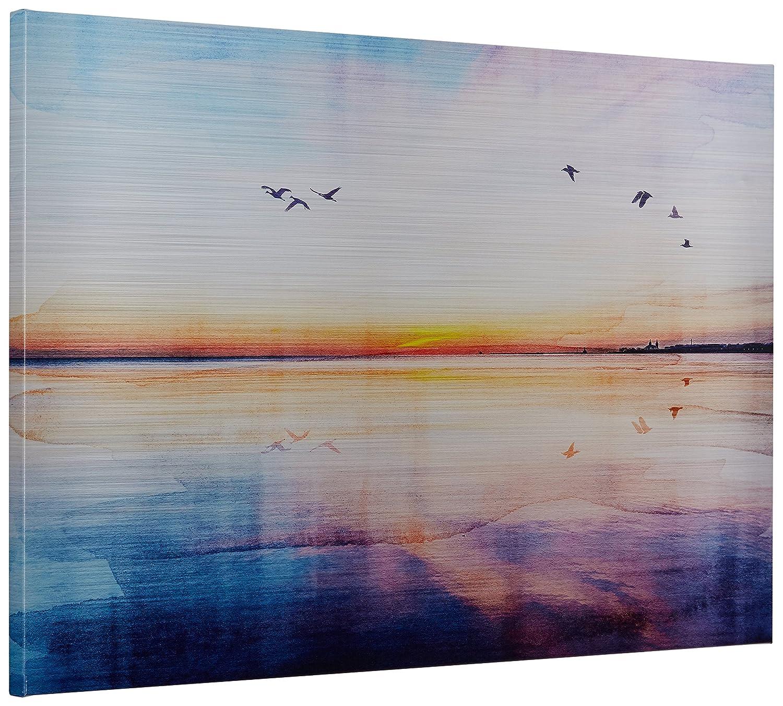 Rivet Seagulls Across The Sunset Horizon Canvas Print, 36 x 24