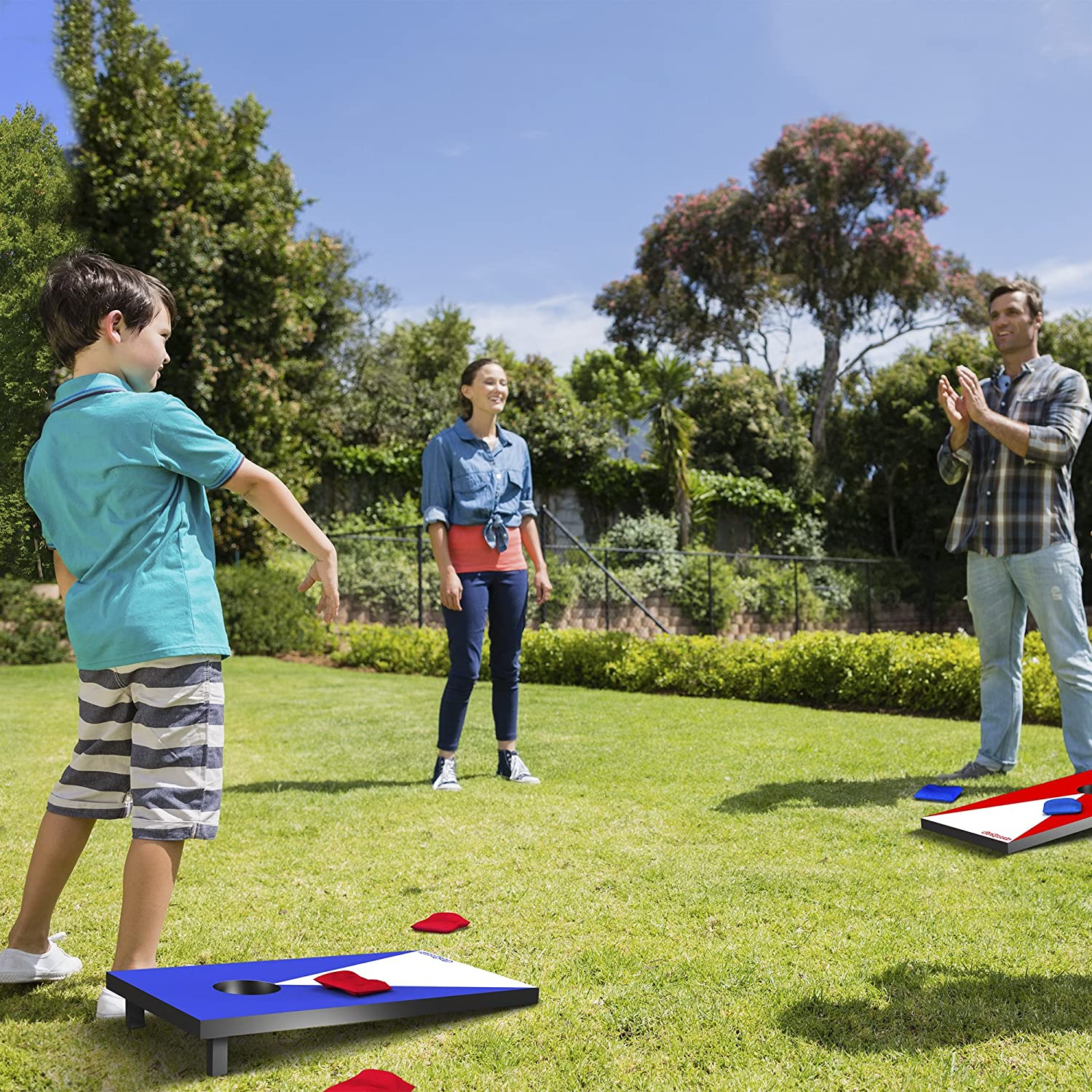 Amazon GoSports Junior Size Cornhole Game Set Sports
