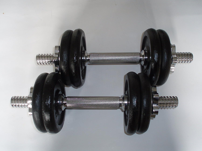 Juego de mancuernas, barras de pesas 20 kg: Amazon.es: Deportes y ...