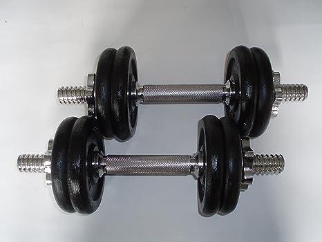 Juego de mancuernas, barras de pesas 20 kg