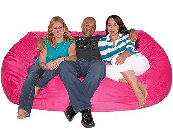 Cozy Sack 7 Feet Bean Bag Chair, X Large, Hot Pink