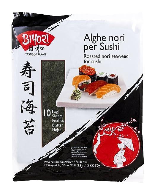 29 opinioni per Biyori- Alghe Nori per Sushi- 2 confezioni da 25 g [50 g]