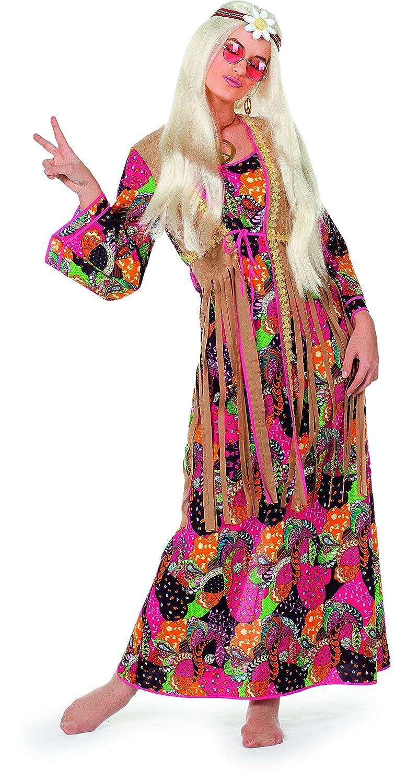Charcoal 56 Adult Hippy Long Dress Costume (UK 2426)