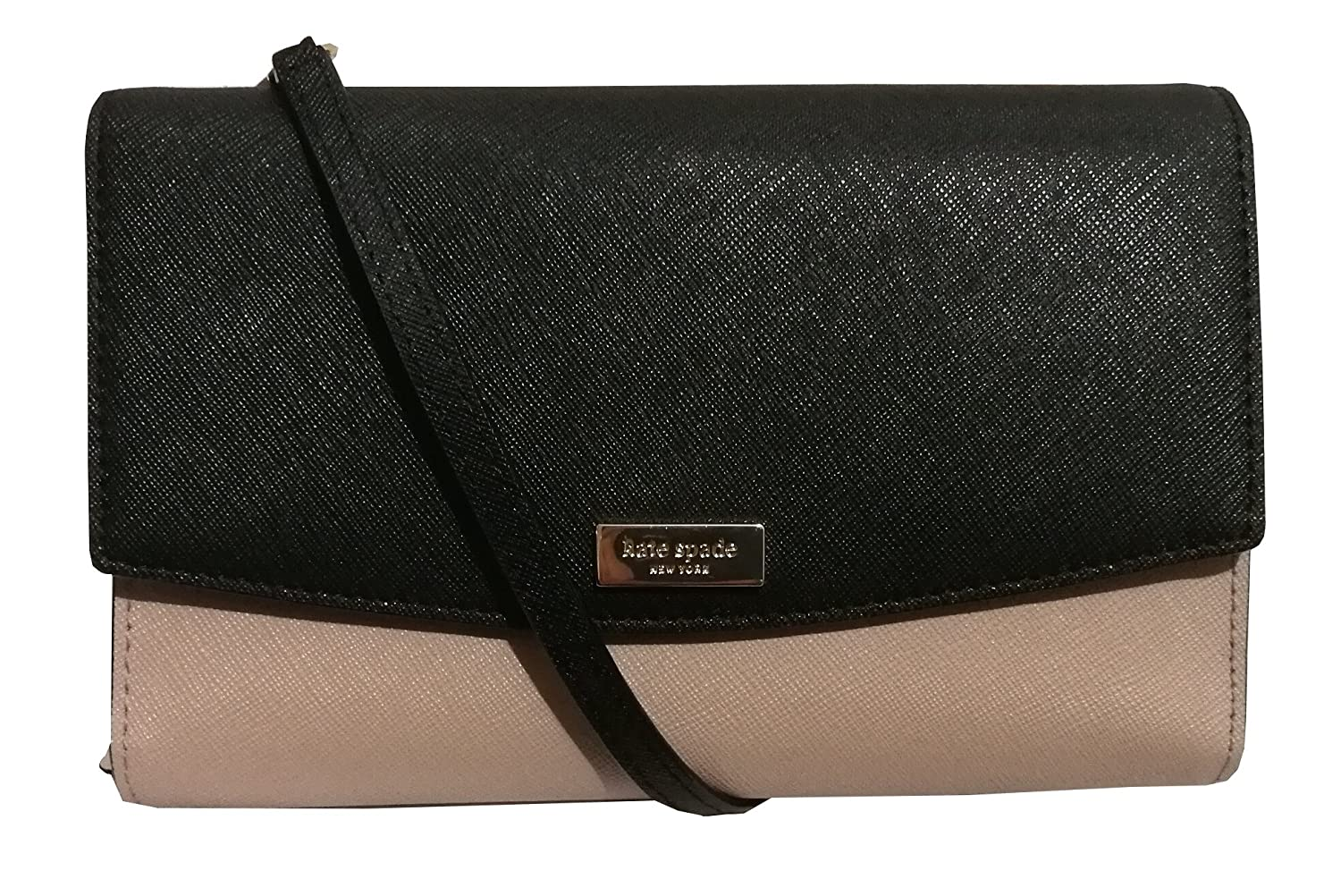 Kate Spade Winni Laurel Way Crossbody Wallet Bag Almondine/Black