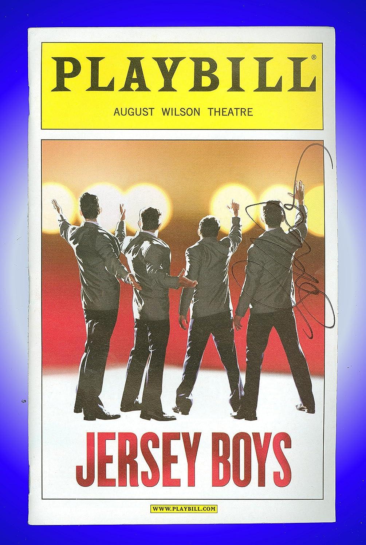 Jersey Boys, Autographed Broadway Playbill + Sebastian Arcelus, Matt Bogart, Dominic Nolfi, Jarrod Spector, Peter Gregus, Mark Lotito, Michelle Aravena, Miles Aubrey