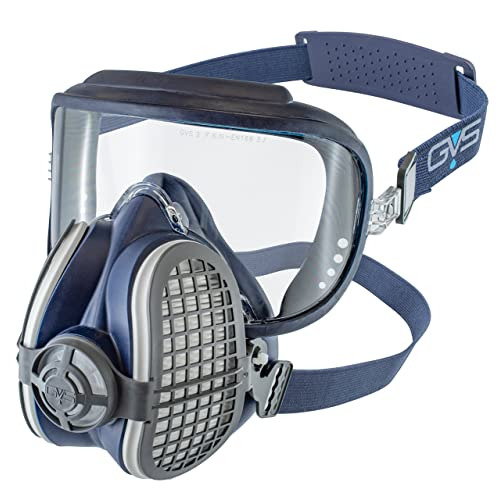 GVS Filter Technology SPR407 Elipse Integra Safety Goggle + P3 Dust Half Mask Respirator, Filters Ready Fitted, Small/Medium