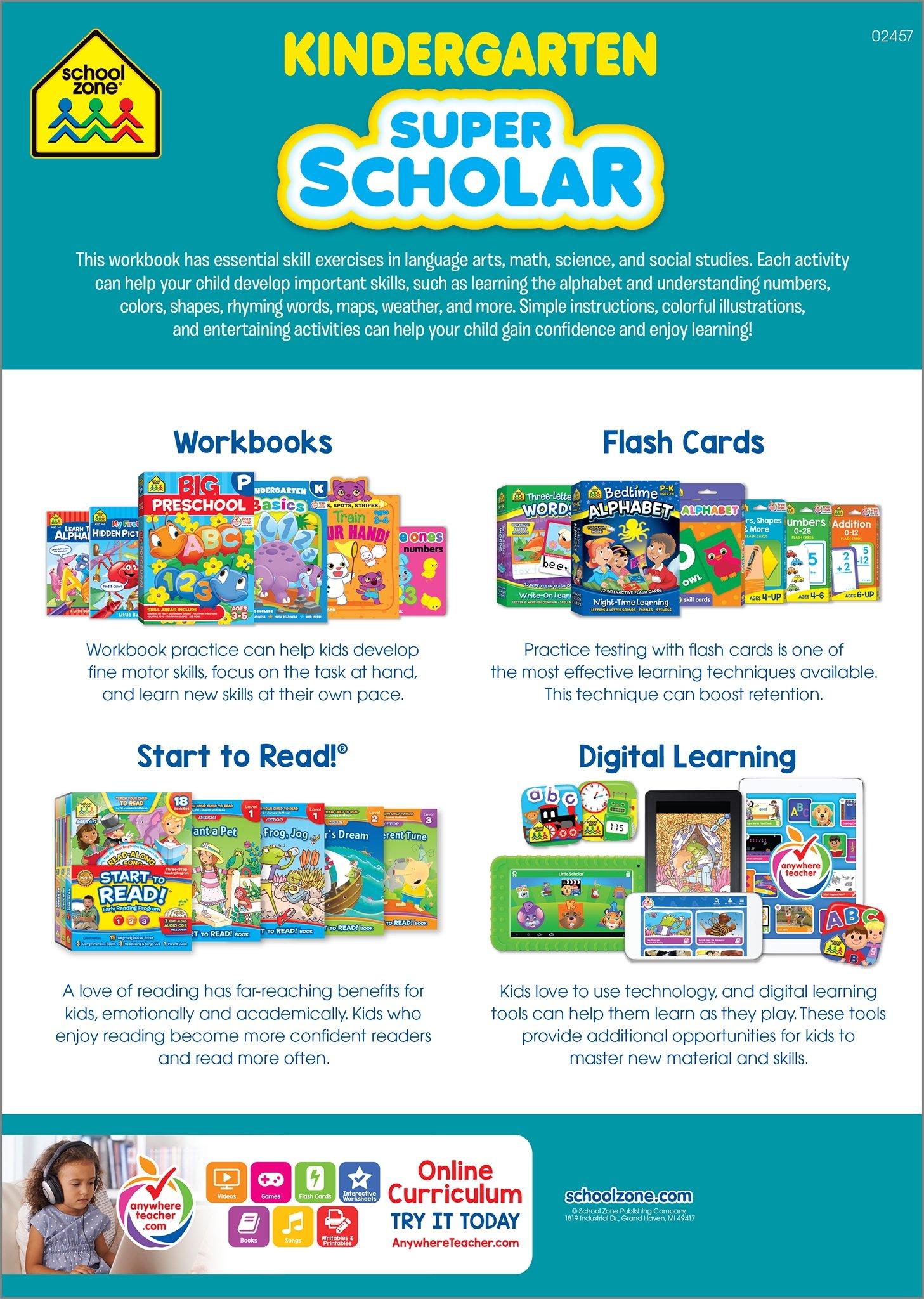 Kindergarten Super Scholar Workbook: Marilee R. Burton;Kathryn Riley ...