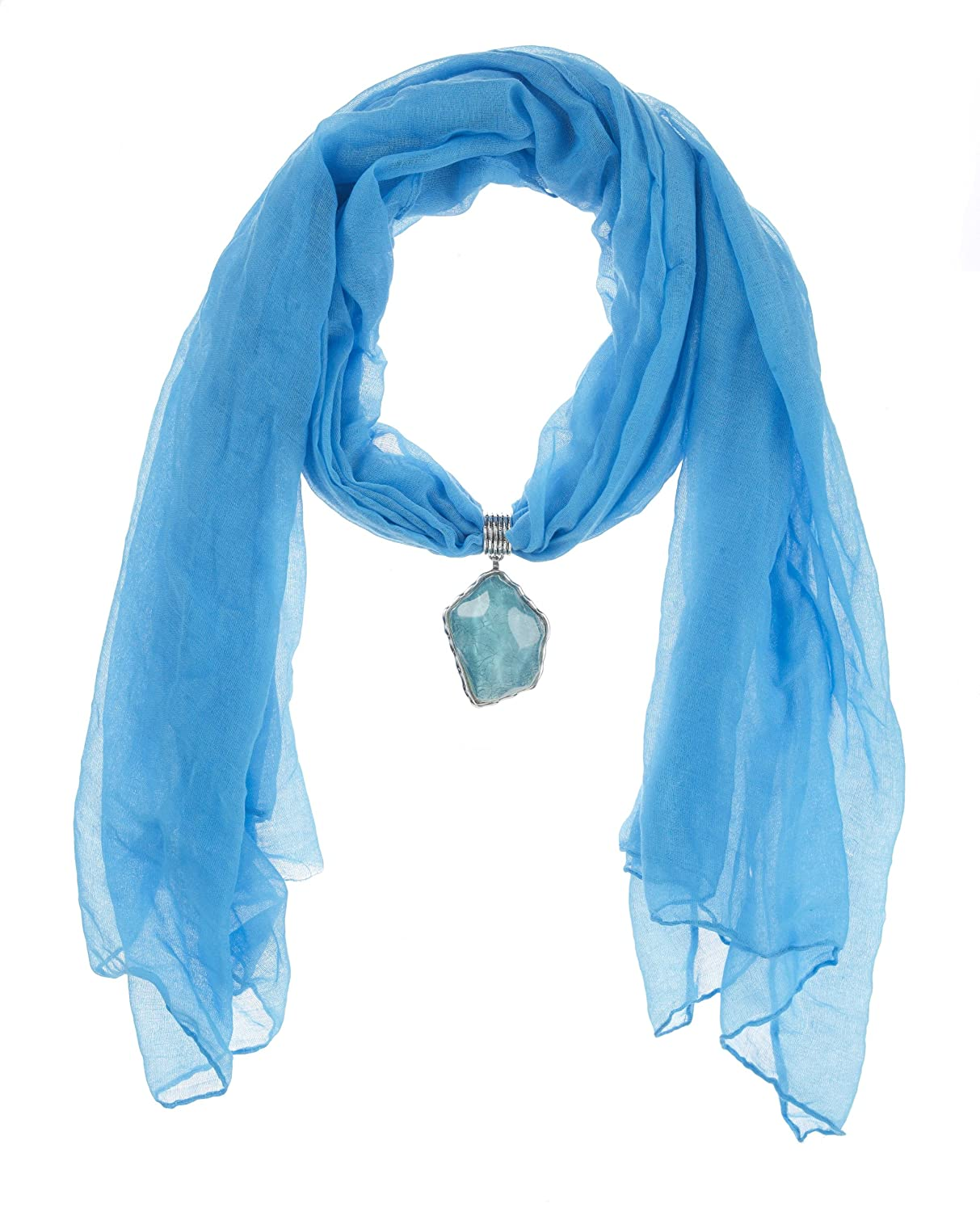 Blue Jeweled Scarf by Ganz