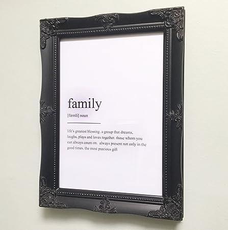 Vintage Style Ornate Black A4 Gilt Picture Frame: Amazon.co.uk ...