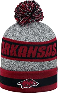Arkansas Razorbacks NCAA Top of the World 'Cumulus' Striped Cuffed Knit Hat Chapeau