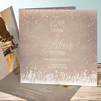 Aussergewohnliche Hochzeitseinladungen Zauberlicht 60 Karten