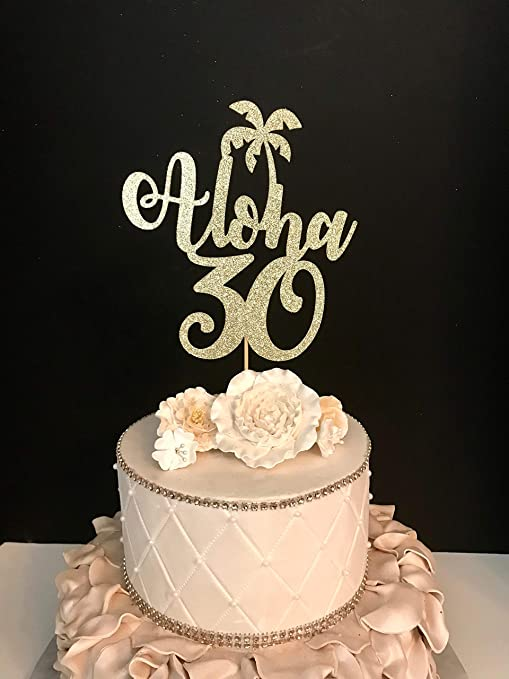 Funlaugh - Decoración para tarta con purpurina dorada ...