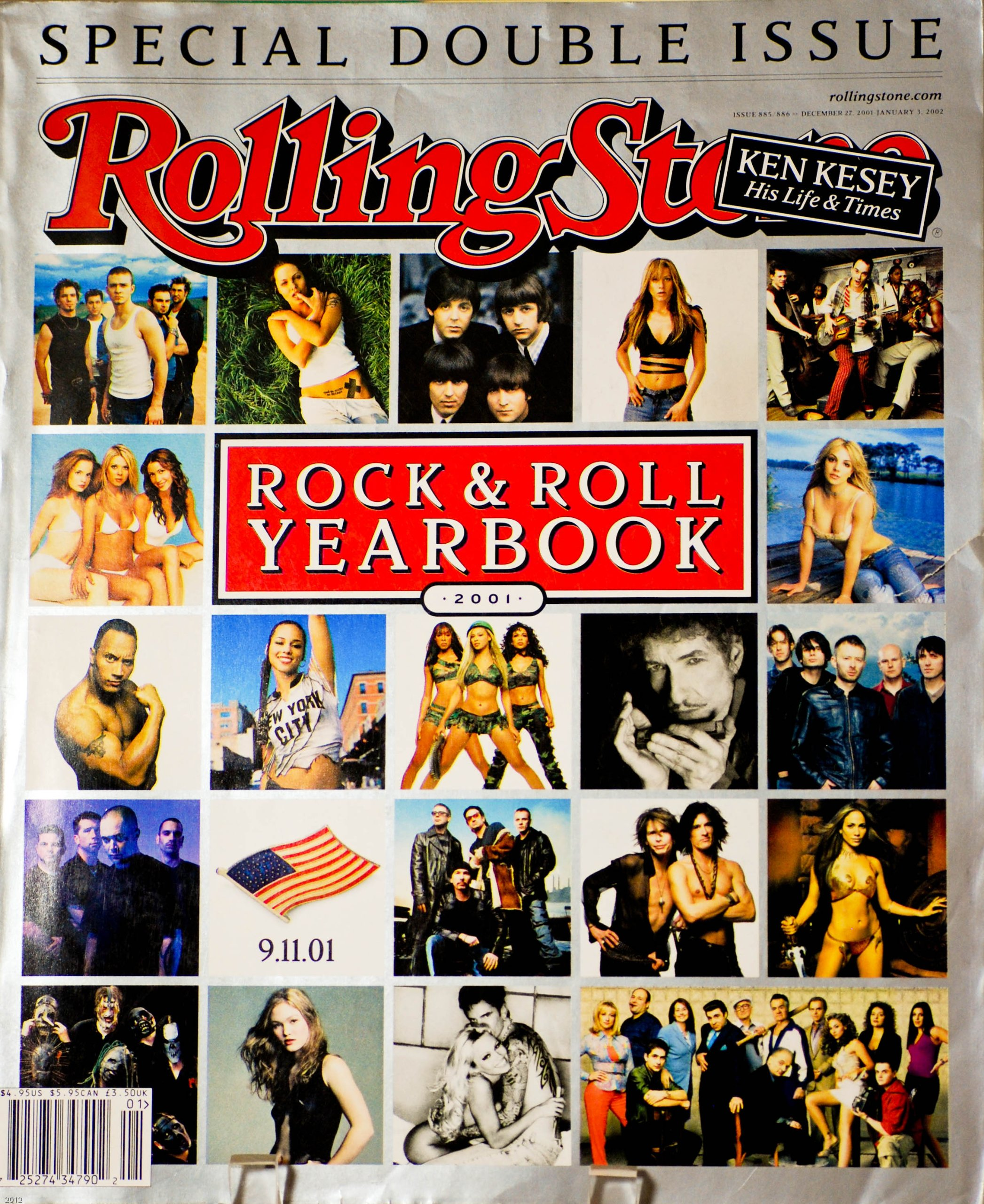 Read Online ROLLING STONE MAGAZINE # 885/886--ROCK AND ROLL YEARBOOK 2001-DECEMBER 7TH, 2001 pdf