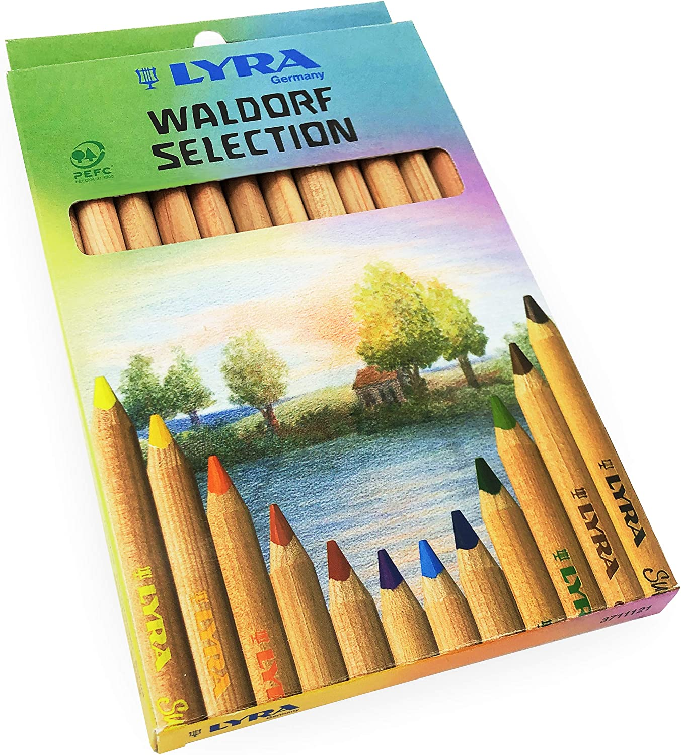 Lyra Waldorf Selection Triangular Colouring Pencils - Assorted Colours - Pack of 12