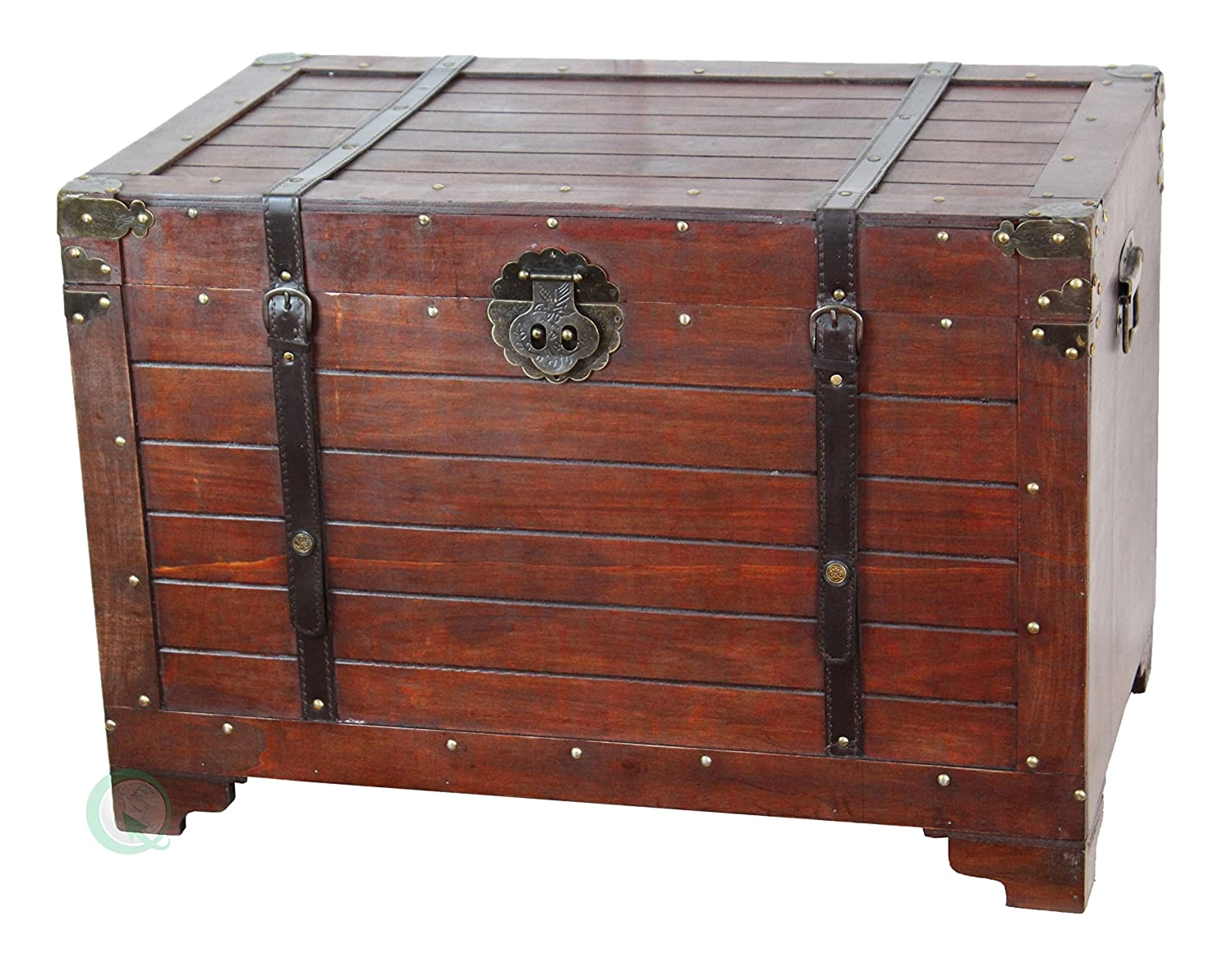 Amazon.com: Vintiquewise(TM) Old Fashioned Wooden Storage Treasure ...