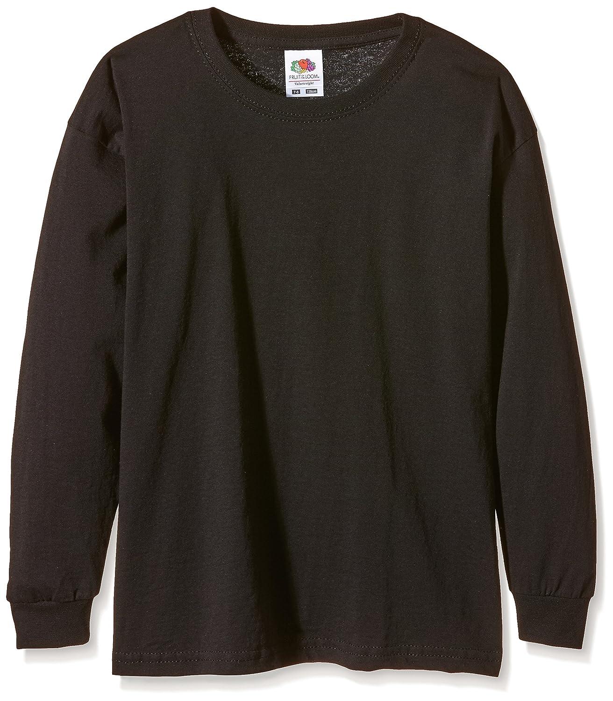 Fruit of the Loom M/ädchen Valueweight Long Sleeve T-Shirt