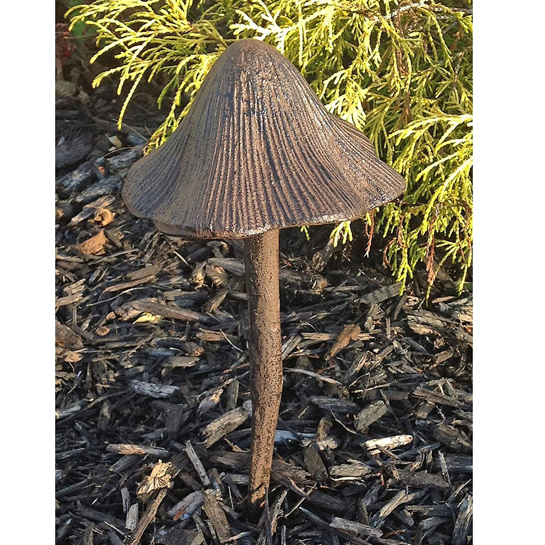 garden hose stakes. amazon.com: solid aluminum mushroom hose guide garden stake tall 20\ stakes -