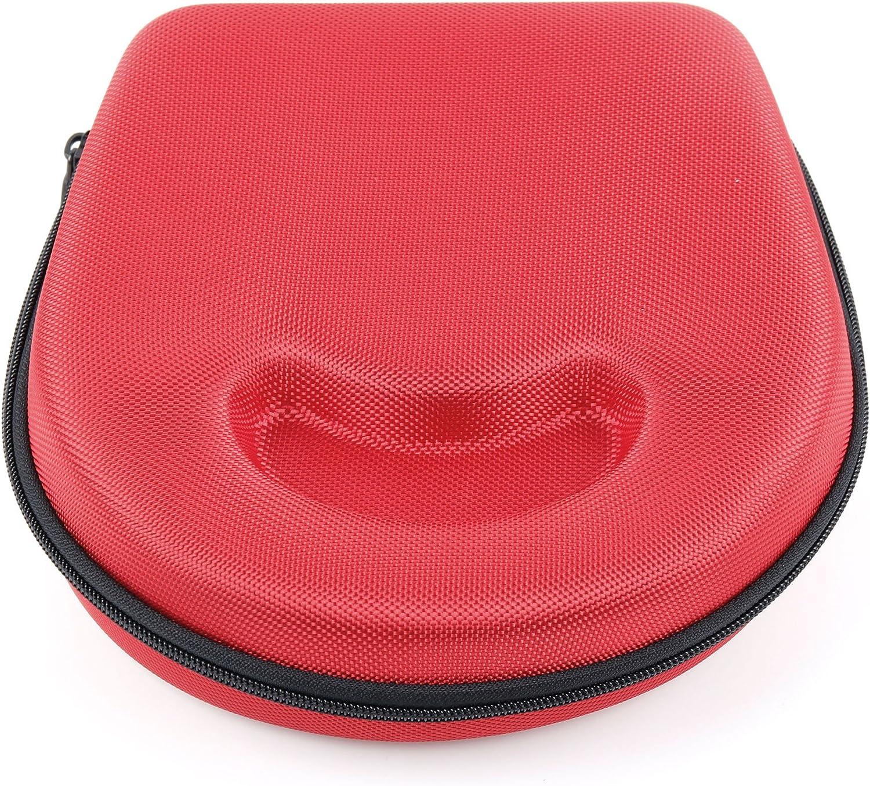 DURAGADGET Estuche/Carcasa para Los Auriculares Sennheiser HD 25-1 | HD 25-1 II Adidas Originals - En Color Rojo