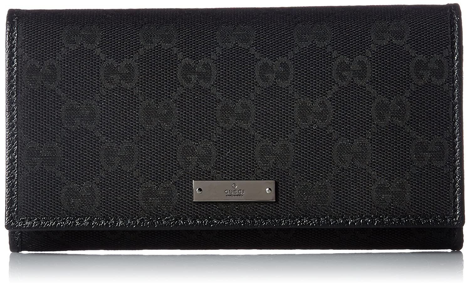 [グッチ]GUCCI METAL BAR 長財布 [並行輸入品] B07258R6F5 Nero Nero