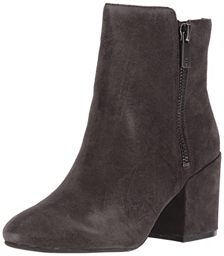 b32c4f916897 Kenneth Cole New York Women s Rima Bootie with Double Zip Block Heel Suede  Boot Asphault 5