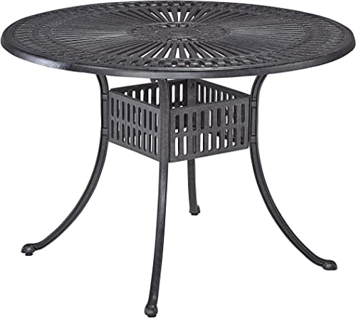 Largo Charcoal Finish Round 42 Outdoor Dining Table by Home Styles