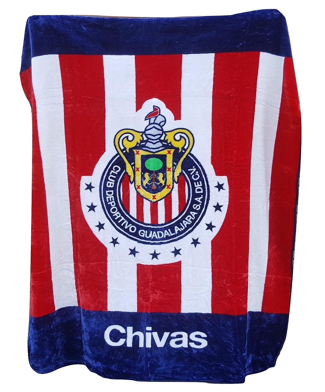 Chivas Licensed de Guadalajara Luxury Plush King Size Stripe Blanket 84