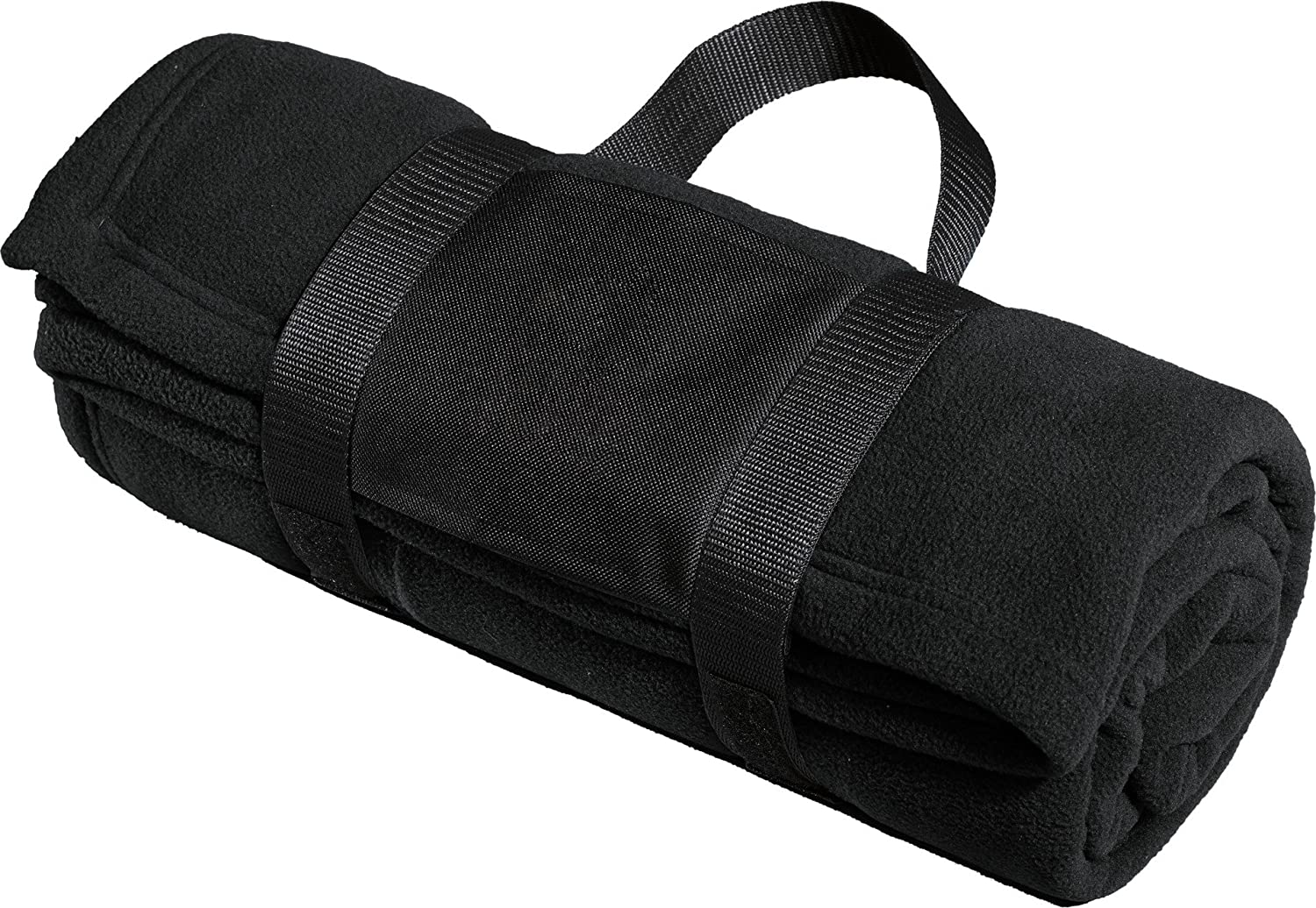 Port AuthorityメンズフリースBlanket with Carrying Strap OSFA 698233 B00MFQV5FG ブラック OSFA OSFA|ブラック
