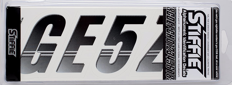 STIFFIE Techtron TT14 Boat PWC Letter Number Decal Registration BLACK WHITE