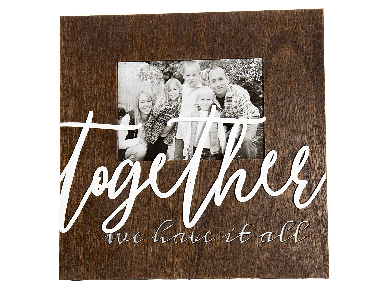 ReLive 5x7 Together We Have It All Laser Cut Wooden Picture Frame Home Decor