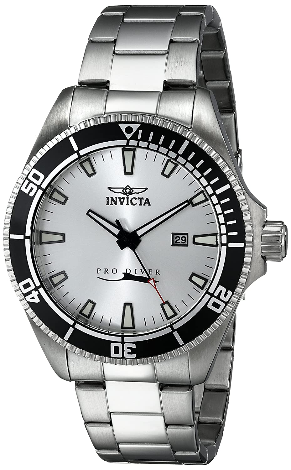Amazon.com: Invicta Men's 15183SYB Pro Diver Silver Dial Stainless Steel  Watch with Impact Case: Watches