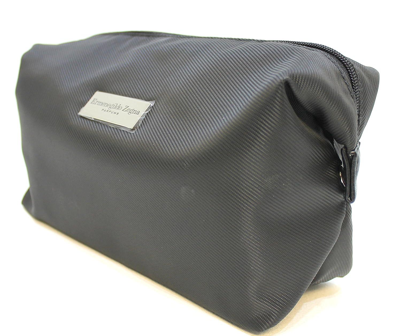 b0471e9220 ERMENEGILDO ZEGNA parfums black toiletry / wash bag for men * new