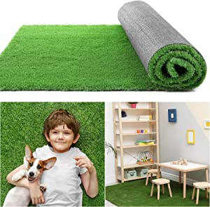 COCOBOO Artificial Grass Rug 3x5 FT(15 Square FT), Realistic Synthetic Grass Turf, Indoor Outdoor Garden Lawn Landscape for Pets, Fake Grass Rug with Drainage Holes