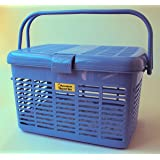 Easy Open Wide Top Load Door Pet Cat Carriers Fully Assembled 16x11.63x10.25 (Blue)