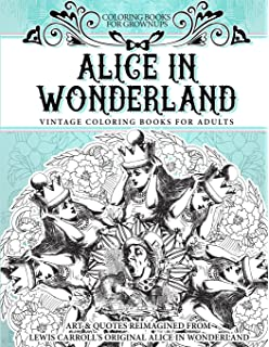 coloring books for grownups alice in wonderland vintage coloring books for adults art