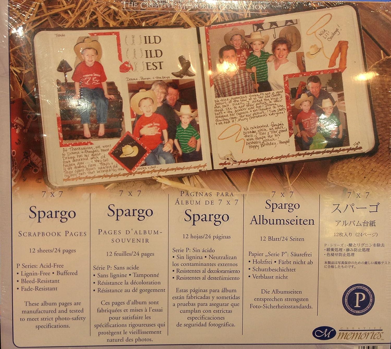 Creative Memories Spargo 7x7 Scrapbook Refill Pages