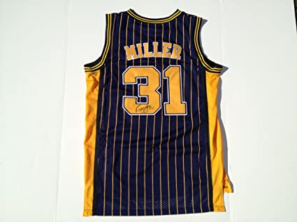 buy popular f233d e8e9f Indiana Pacers REGGIE MILLER Signed Autographed Jersey COA ...