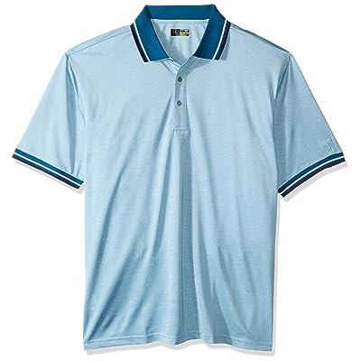 PGA TOUR Men's Big and Tall Short Sleeve Oxford Polo Shirt: Clothing