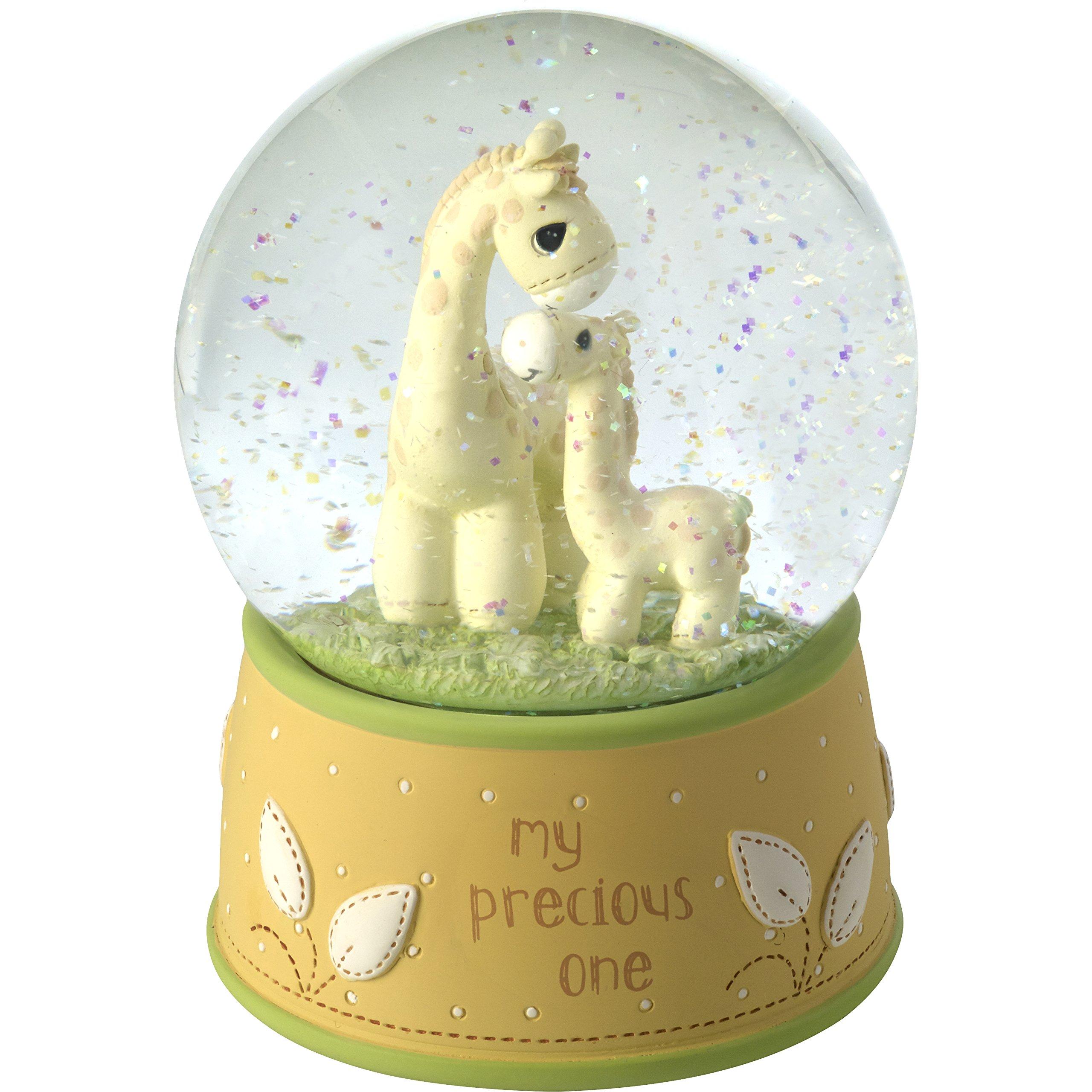 Precious Moments My Precious One Resin/Glass Giraffe Musical Snow Globe, Yellow