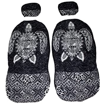 Hawaiian Car Seat Covers >> Hawaiian Car Seat Cover With Separated Headrest Gray Big Turtle Set Of 2 Front Bucket Seat Covers Made In Hawaii
