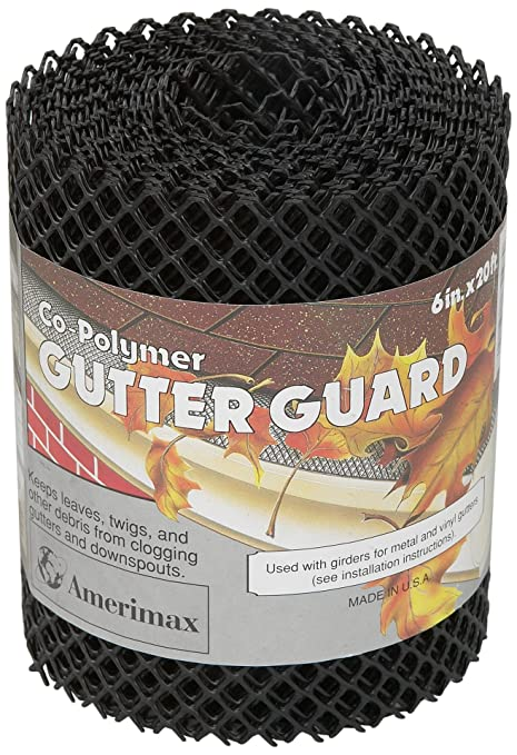Flex-Drain 85198 Co-Polymer Gutter Guard Roll, 6-Inch x 20