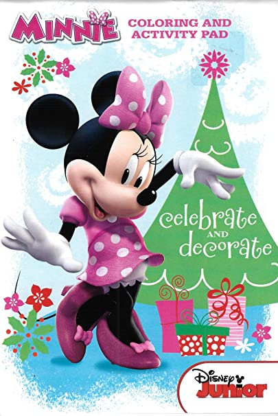 Amazon Com Disney Junior Mickey Mouse Clubhouse Holiday Fun Coloring And Activity Pad Toys Games