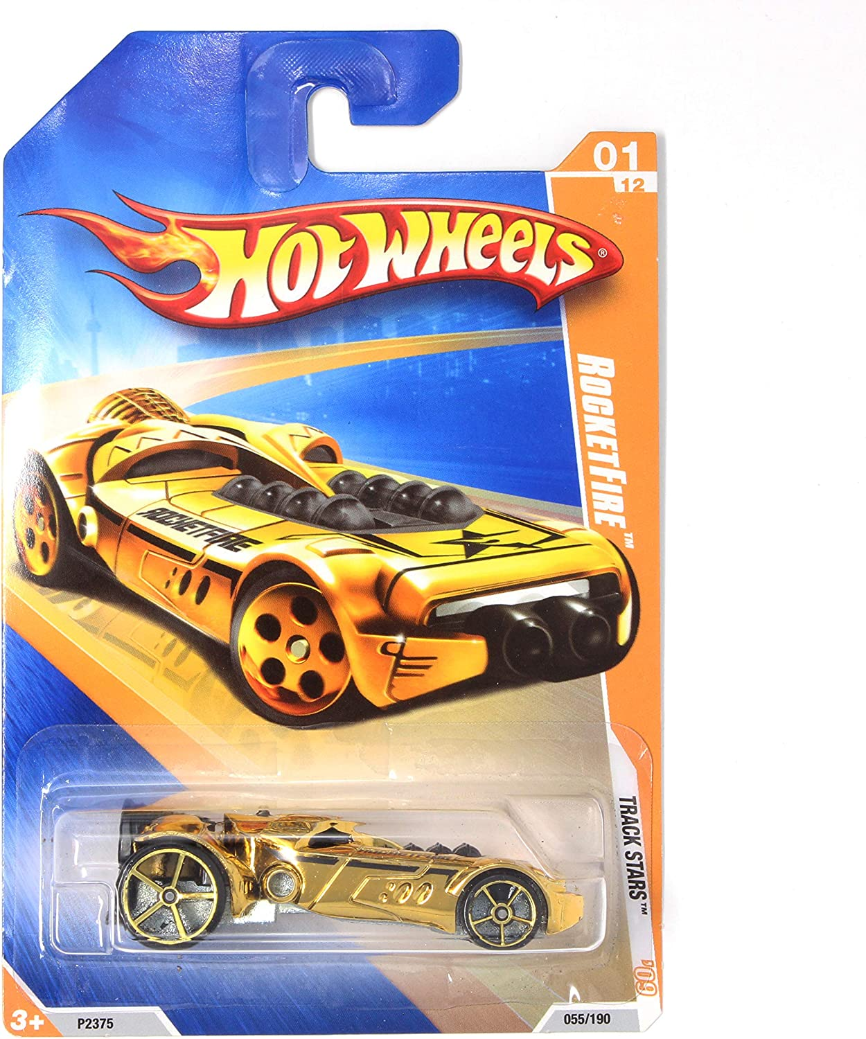 Hot Wheels 2009 Track Stars Gold Rocketfire w// Gold OH5SP #55 01 of 12