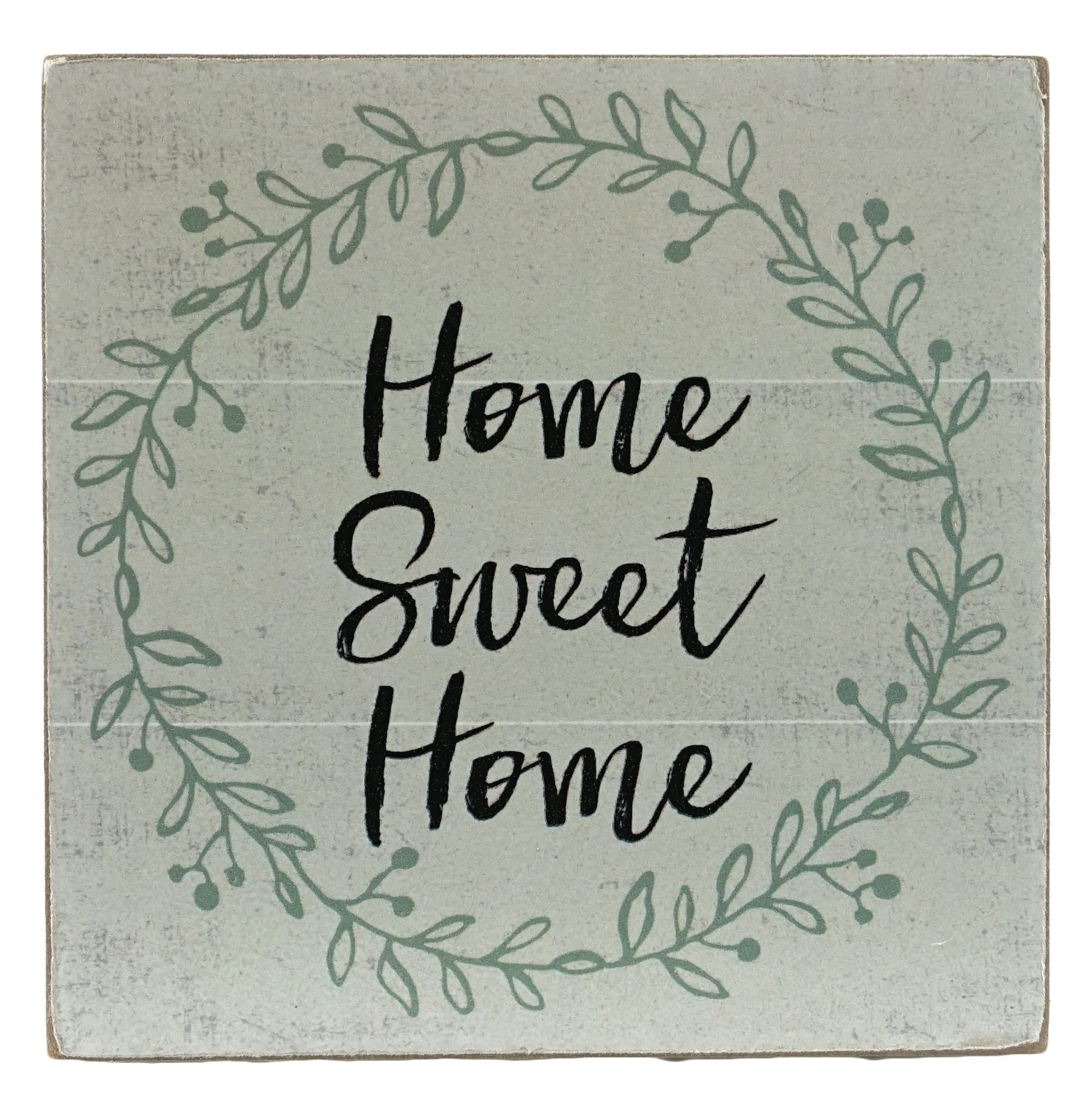 Home Sweet Home Distressed Style Block Sign