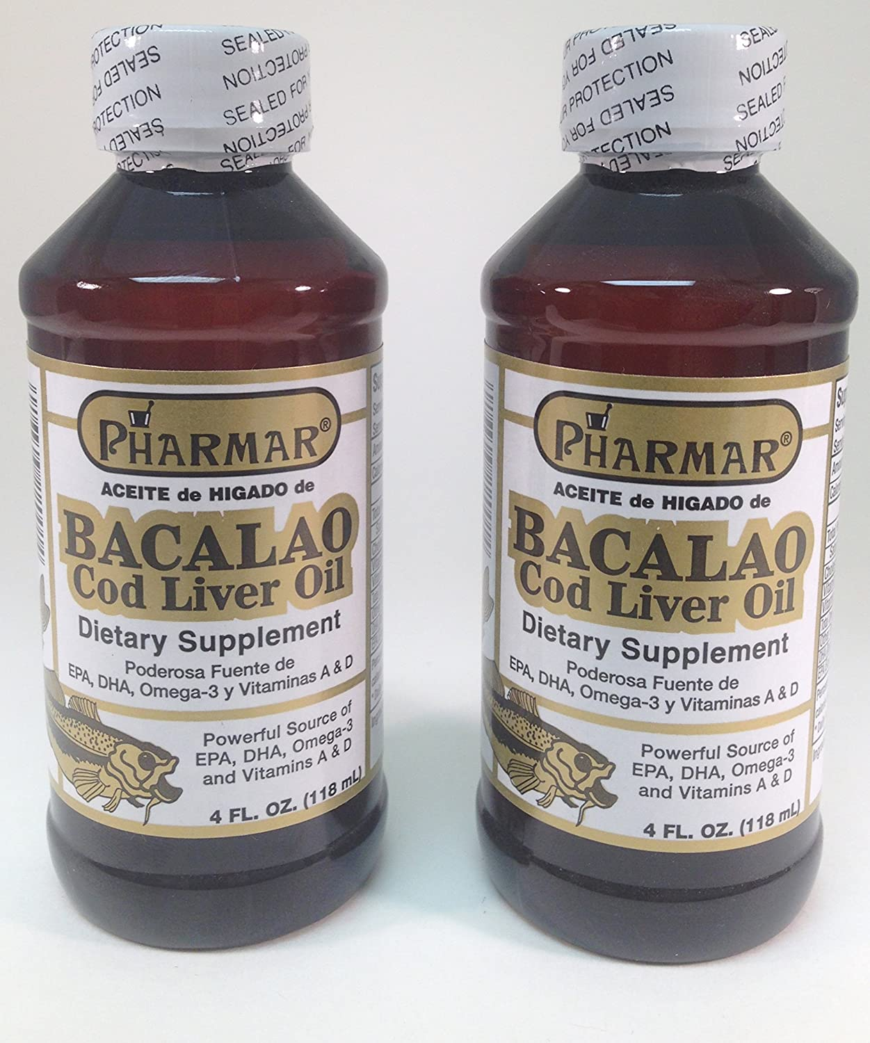 Amazon.com: Aceite De Higado De Bacalao 4 Oz. Cod Liver Oil 2-PACK: Health & Personal Care