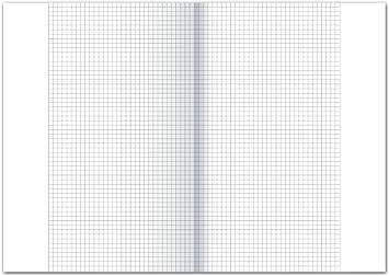 9 mm Ursus 608471010 formato A3 piegato in A4 250 fogli 70 g///² a righe con margine Fogli protocollo