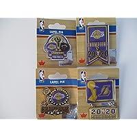 $49 » LOS ANGELES LAKERS 2020 NBA CHAMPIONS 4 LAPEL PIN SET (NEW)