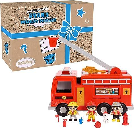 Multicolour JP Ryans World JPL79670 Flair Ryans Playdate Fire Truck Mystery Box